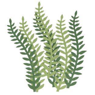 6 hojas de papel plantas verdes