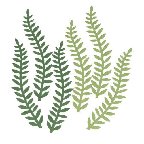 6 feuilles de papier plantes vertes