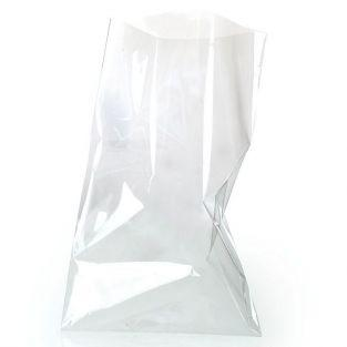 100 transparent food bags 30 x 18 cm
