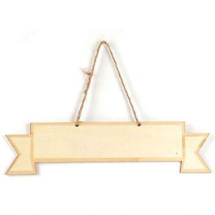 Wooden wall plate 33 x 8 cm - Ribbon