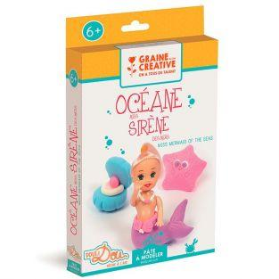 Caja de plastilina ligera - Sirena y oceano