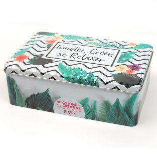 FIMO metal box - Tropical