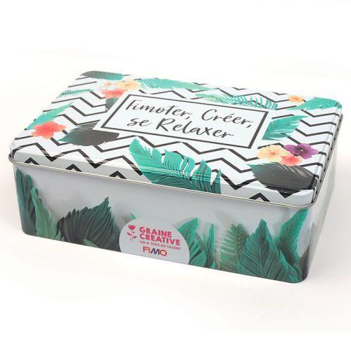 Boîte métallique FIMO - Tropical