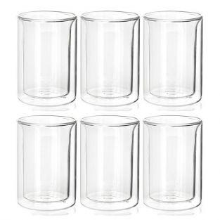 6 tazas de té de cristal de doble pared 175 ml