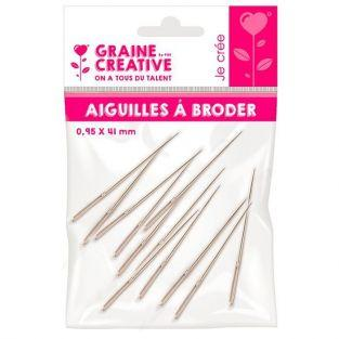 12 embroidery needles 4.1 cm x 0.95 mm