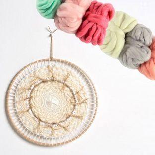 Métier à tisser rond Ø 29 cm + 6 pelotes de laine