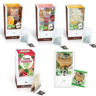 Kit de 5 tisanes bio aux fruits