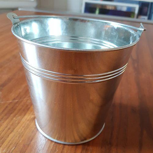 Seau en zinc 12,5 x Ø 13 cm