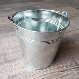 Zinc bucket 12.5 x Ø 13 cm