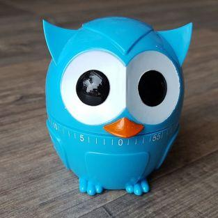 Owl kitchen timer 60 min - Blue