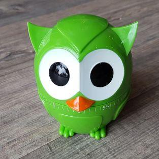 Owl kitchen timer 60 min - Green