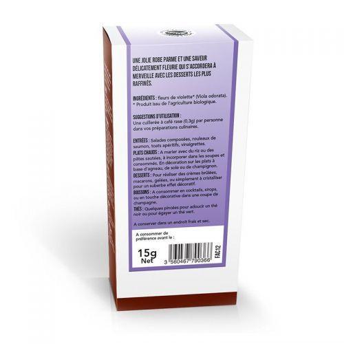 Organic edible flowers - Violet flowers 15 g