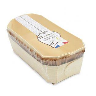 2 moules à cake 24 cm en bois + 4 caissettes sulfurisées de cuisson