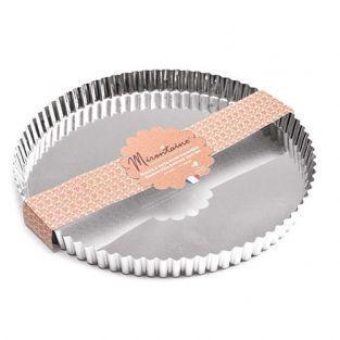 Moule à tarte en fer blanc Ø 30 cm