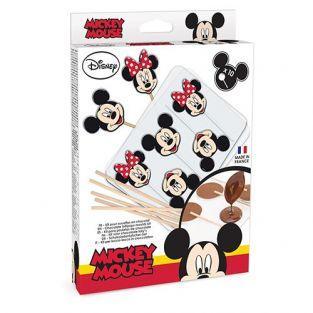 Kit moules pour sucettes au chocolat Mickey & Minnie