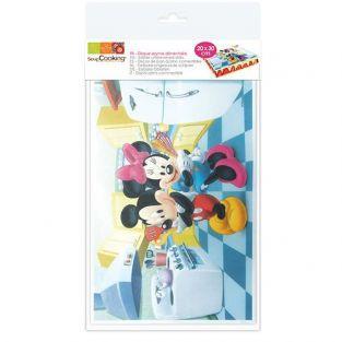 Rectángulo de oblea alimentaria Mickey & Minnie Mouse