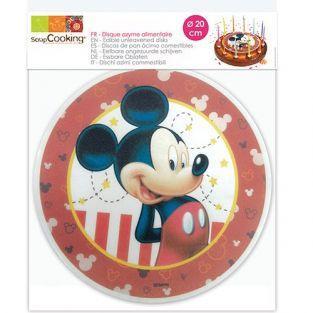 Disco de oblea alimentaria Ø 20 cm - Ratón Mickey