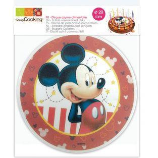 Disque azyme alimentaire  Mickey Ø 20 cm