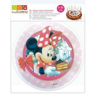 Edible wafer disc Ø 20 cm - Minnie Mouse