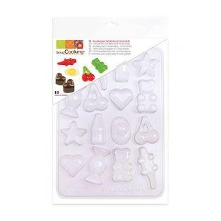 Molde de plástico para dulces y chocolates