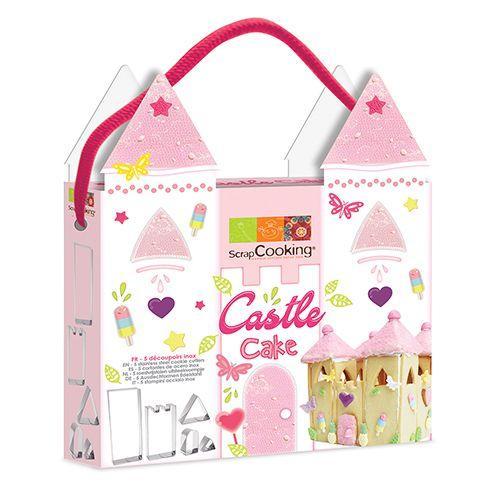 Kit cortadores de galletas - Pastel Castillo