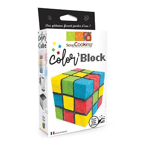 Colored cube cake kit