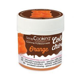 Colorant alimentaire liposoluble Color'choco 5 g - orange
