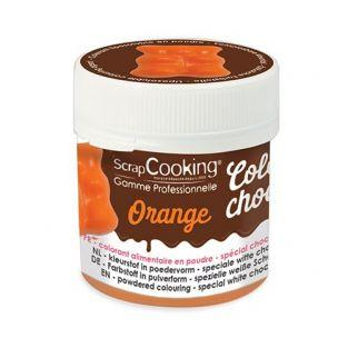 Colorante alimentario soluble en grasa Color'choco - Naranja