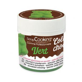 Colorant alimentaire liposoluble Color'choco 5 g - vert