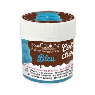 Colorante alimentario soluble en grasa Color'choco - Azul