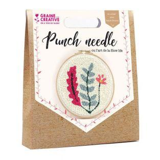 Punch needle box Ø 20 cm - Vegetal