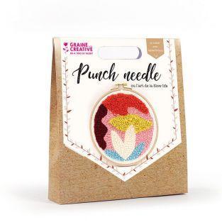 Coffret Punch needle Ø 20 cm - Abstrait
