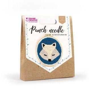 Coffret Punch needle Ø 20 cm - Renard