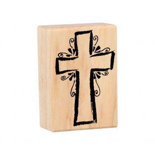 Holz Stempel - Kreuz