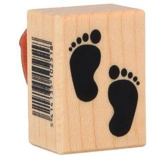 Holzstempel - Füße