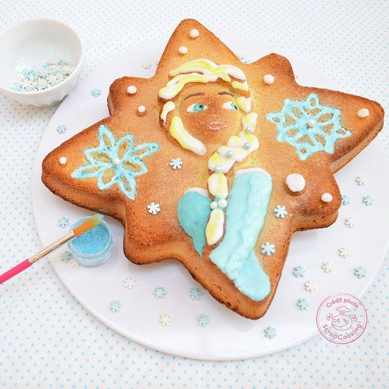 Moule à gâteau étoile Reine des Neiges + colorant bleu turquoise