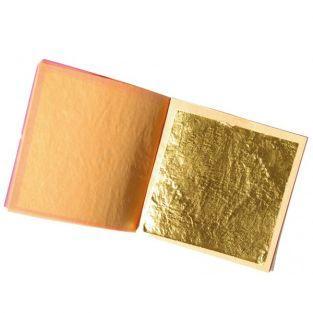 5 feuilles d'or comestible 22 carats