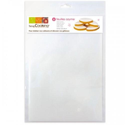 6 Feuilles Azyme pour pâtisserie