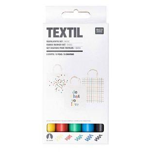 5 feutres pour textiles basic