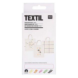 5 rotuladores para textil – Colores...