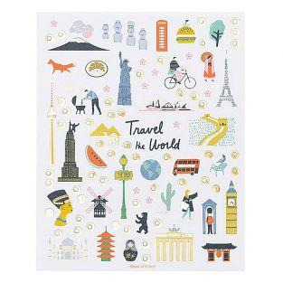 260 Stickers - Monuments of the World