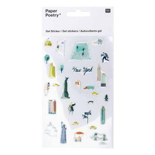 Transparent gel stickers -...