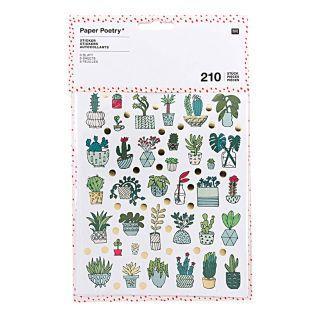 210 pegatinas plantas de interior