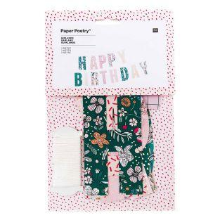 Happy Birthday paper garland - 3 m