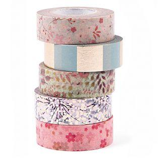 5 Masking Tapes 15 mm x 10 m -...