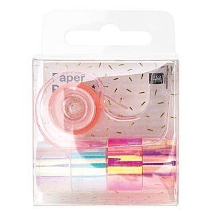 5 mini masking tapes espejo - blanco...
