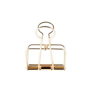 6 Pinces double-clip doré 19 mm