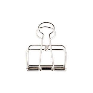 6 Pinces double-clip argenté 19 mm