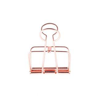 6 Pinces double-clip cuivré 19 mm