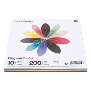 200 Blatt für Origami 15 x 15 cm -...